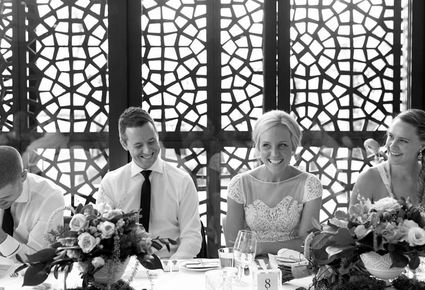 Bridal Table Black And White