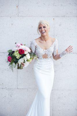 Happy Bride White Backdrop