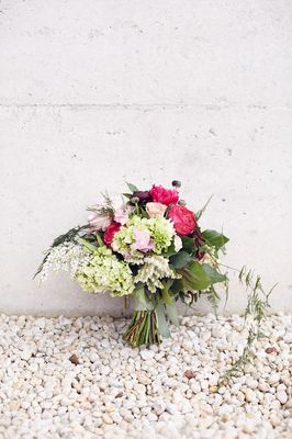 Bouquet Against Wall