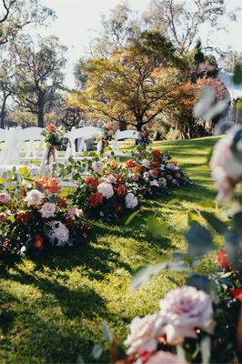 Marlon And Scarlett Outdoor Ceremony Aisle